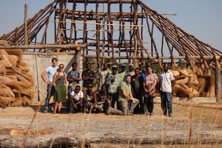 Build team at Pinnon safari lodge